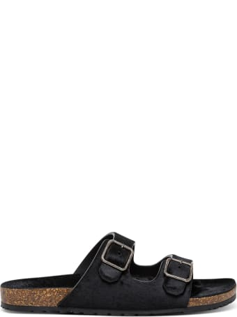 Saint Laurent Jimmy Sandals In Pony Effect Leather