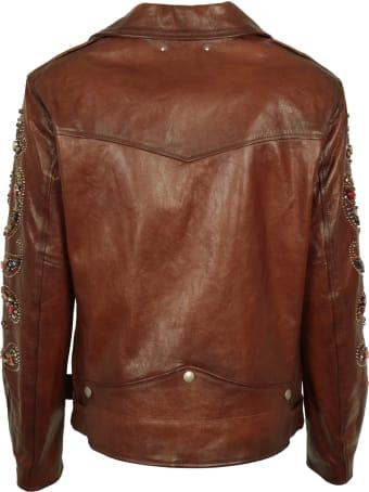 Golden Goose Victoria Belted Leather Jacket