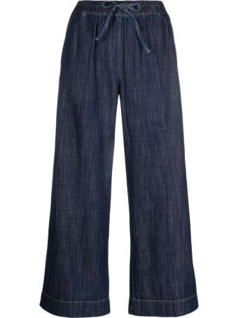 Parosh Wide Leg Denim Pants