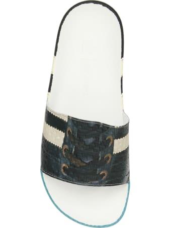Adidas By Raf Simons Rs Samba Adilette Slides