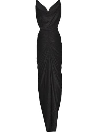 Rick Owens Lilies Deep V-neck Sleeveless Gown Dress
