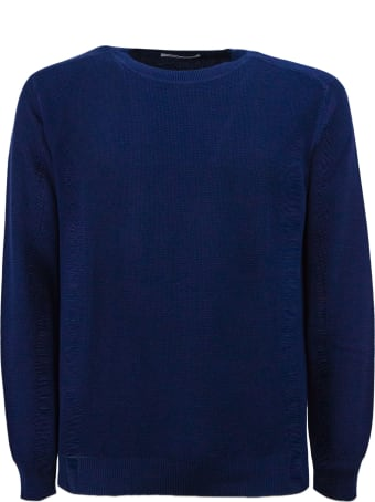 Kangra Blue Cotton Sweater
