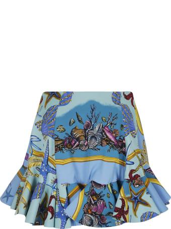Versace Floral Print Skirt