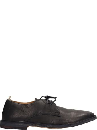 Officine Creative Black Leather Lace-up Shoes