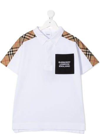 Burberry Johnathan Cotton Polo Shirt With Vintage Check Inserts
