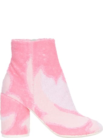 MM6 Maison Margiela Mm6 Abstract Pattern Booties