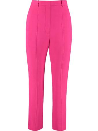 Alexander McQueen High-waist Crêpe Trousers