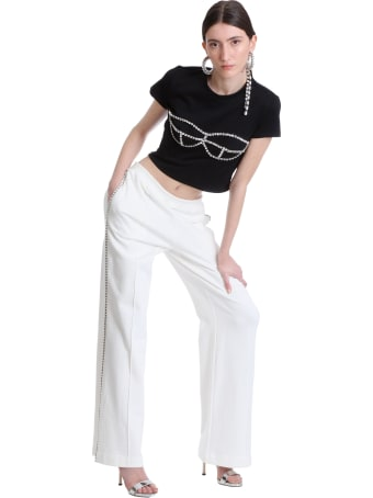 AREA Pants In White Cotton
