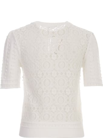 See by Chloé Sweater 3/4s Crew Neck W/lace On Back