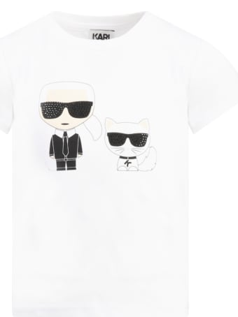 Karl Lagerfeld Kids White T-shirt For Kids