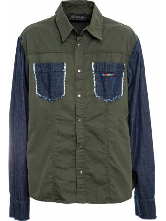 Mr & Mrs Italy Denim And Canvas Shirt For Man