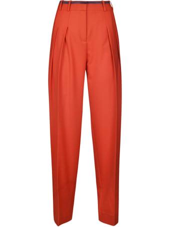 Victoria Beckham Fluid Wool Blend Trousers