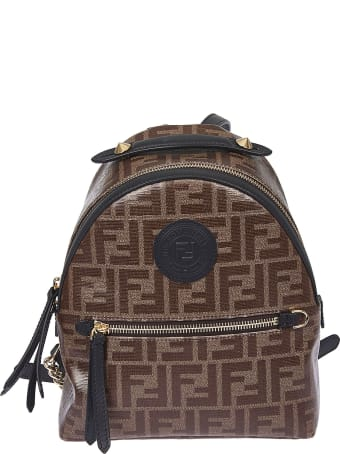 Fendi Double F Motif Backpack