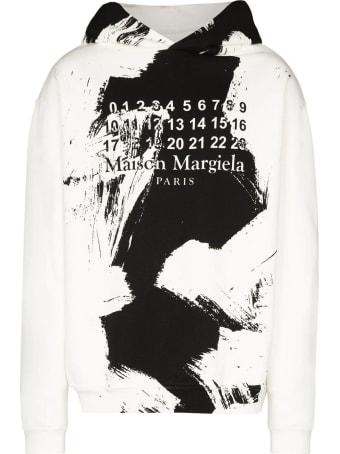 Maison Margiela White Cotton Hoodie