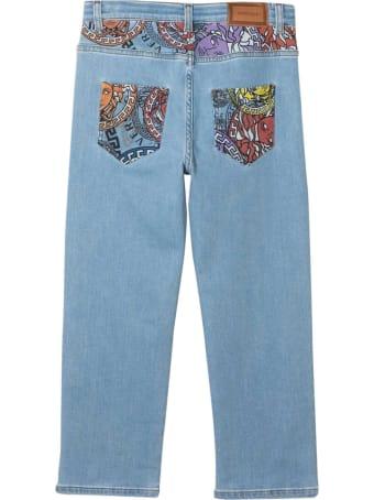 Young Versace Straight Jeans With Medusa Print