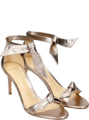 Alexandre Birman Sandals In Platinum Leather