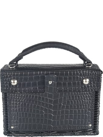 Wicker Wings Mini Weaved Box Tote