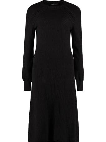Alberta Ferretti Openwork-knit Dress