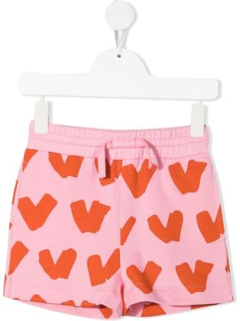 Stella McCartney Kids Hearts Shorts In Pink Jersey