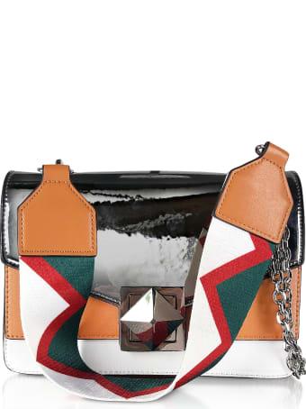 Manila Grace Color Block Laminated Shoulder Bag