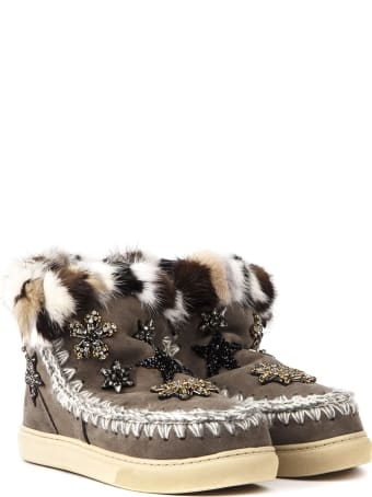 Mou Eskimo Brown Suede Sneaker Star Ankle Boot