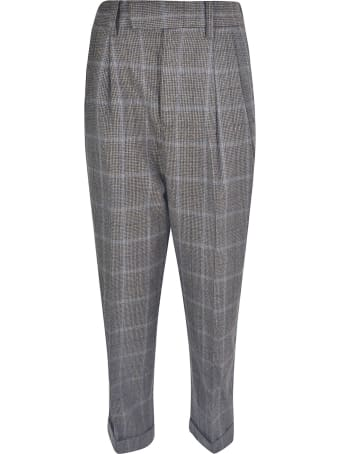 Zucca Cropped Check Trousers