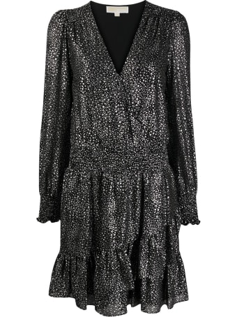 MICHAEL Michael Kors Spaced Galaxy Flounce Dress