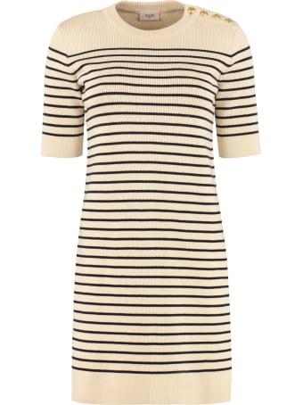 Celine Striped Knit Dress