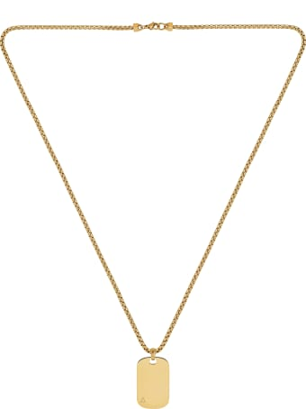 Northskull Id Tag Necklace In Yellow Gold