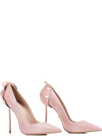 Le Silla Light Pink Suede Petalo 100 Pumps