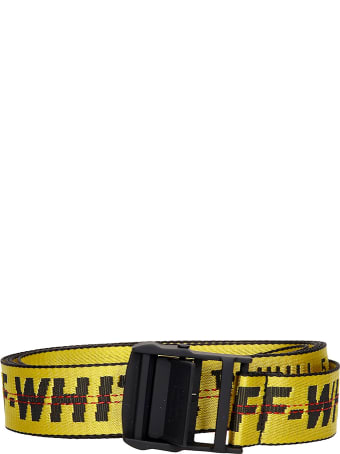 Off-White Classic Industr Belts In Yellow Synthetic Fibers