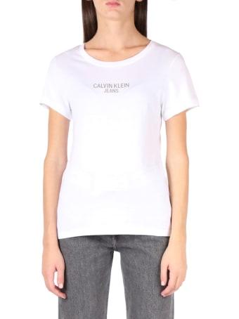 Calvin Klein Jeans White Ck Jeans Cotton T-shirt
