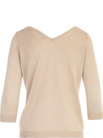 Base V Neck In Front And On Back 3/4s Sweater