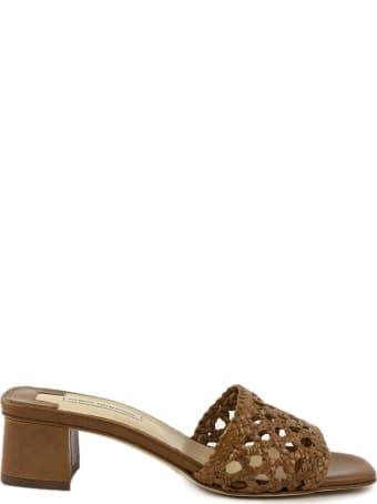 Fabio Rusconi Brown Leather Sandal