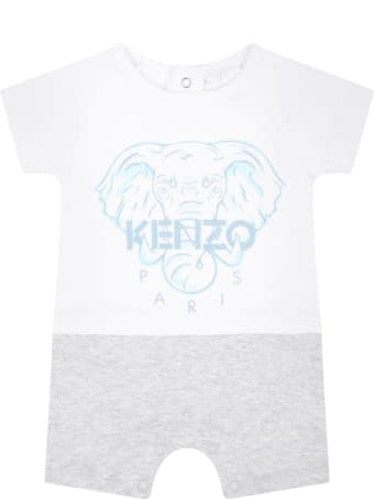 Kenzo Kids Multicolor Romper For Babyboy With Elephant