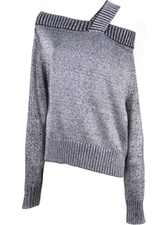 RTA Silver Toned Cotton Blend Jumper