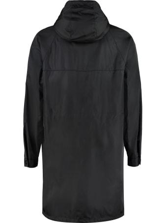 Prada Hooded Long Nylon Windbreaker