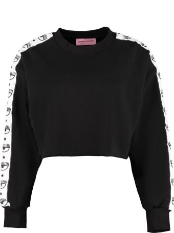 Chiara Ferragni Cotton Cropped Sweatshirt