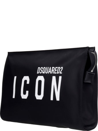 Dsquared2 Clutch In Black Nylon