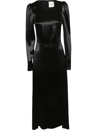 Black Coral Long Sleeves Dress