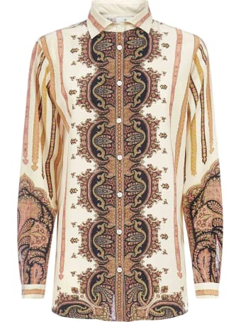 Etro Paisley Print Silk Shirt