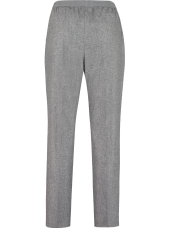 Agnona Wool And Mohair Tailored Trousers