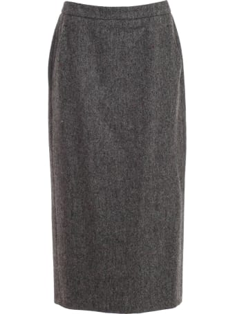 Aspesi Skirt Pencil Shetland