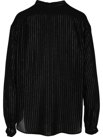 Saint Laurent Laminated Striped Shirt