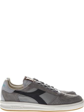 Diadora Heritage B Elite H Italia Grey Suede Sneakers