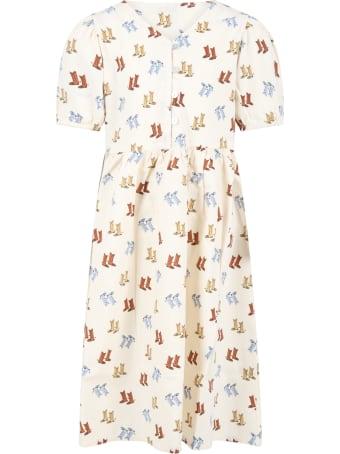 The New Society Ivory ''eleonora'' Dress For Girl