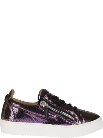 Giuseppe Zanotti Purple Leather Sneakers