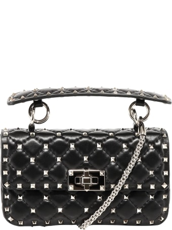 Valentino Garavani Ruckstud Spike Shoulder Bag