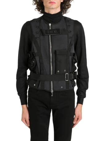 Dior Homme Military Vest In Tech Mesh
