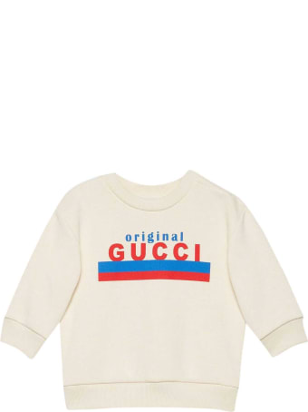 Gucci White Sweatshirt With Print